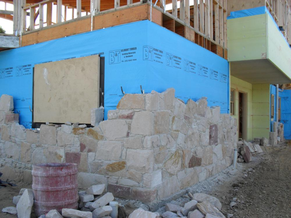 Build a stone house grampians sandstone for Build a stone house